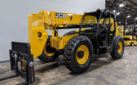 2014 JCB 509-42 9000 LB DIESEL TELESCOPIC FORKLIFT TELEHANDLER PNEUMATIC 4WD STOCK # BF9521129-ILIL - United Lift Equipment LLC