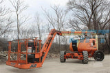 2006 JLG 600AJN ARTICULATING BOOM LIFT AERIAL LIFT WITH JIB ARM 60' REACH DUAL FUEL 4WD STOCK # BF9JLG600A9-RIL2