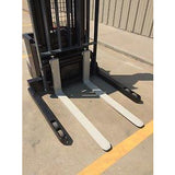 2006 CROWN WS-2300 3500 LB ELECTRIC FORKLIFT WALKIE STACKER CUSHION 84/128 2 STAGE MAST 8796 HOURS STOCK # 5652-558262-ARB - united-lift-equipment