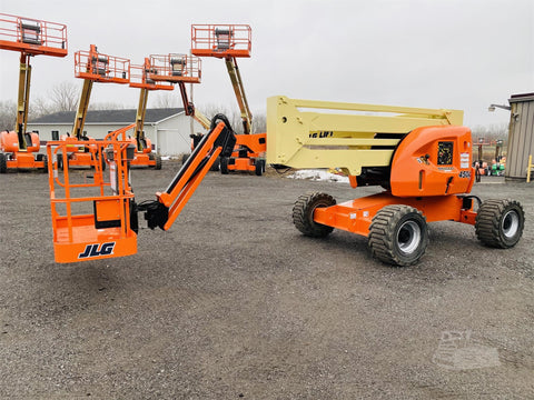 2013 JLG 450AJ ARTICULATING BOOM LIFT AERIAL LIFT WITH JIB 45' REACH DIESEL 4WD 2473 HOURS STOCK # BF9332659-BATNY - United Lift Used & New Forklift Telehandler Scissor Lift Boomlift