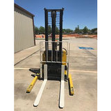 2005 YALE MSW040SEN24TV087 4000 LB ELECTRIC FORKLIFT WALKIE STACKER CUSHION 87/130 2 STAGE MAST 4117 HOURS STOCK # 4980-558284-ARB