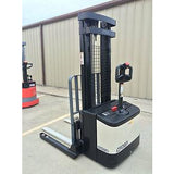 2004 CROWN WS 2000 3500 LB ELECTRIC FORKLIFT WALKIE STACKER CUSHION 84/128 2 STAGE MAST 9686 HOURS STOCK # 5057-457925-ARB - united-lift-equipment