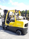 2016 HYSTER S120FT 12000 LB LP GAS FORKLIFT CUSHION 92/185 3 STAGE MAST SIDE SHIFTING FORK POSITIONER 8612 HOURS STOCK # BF9221529-NCB