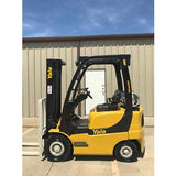 2006 YALE GLP040 4000 LB LP GAS FORKLIFT PNEUMATIC 84/130 2 STAGE MAST 1655 HOURS STOCK # 10198-02002D-ARB