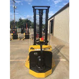 2008 YALE MSW040SFN24TV087 4000 LB ELECTRIC FORKLIFT WALKIE STACKER CUSHION 87/130 2 STAGE MAST 3497 HOURS STOCK # 5948-112730-ARB