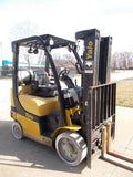 2010 YALE GLP060VX 6000 LB LP GAS FORKLIFT CUSHION TIRE 87/181 3 STAGE MAST SIDE SHIFTER STOCK # BF924389-RIL