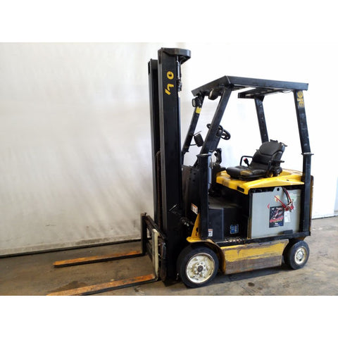 2012 YALE ERC030 3000 LB ELECTRIC FORKLIFT 94/216 3 STAGE MAST SIDE SHIFTER 6250 HOURS STOCK # 20223-NCB
