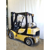 2008 YALE GLP060VX 6000 LB LP GAS FORKLIFT PNEUMATIC 93/199 3 STAGE MAST SIDE SHIFTER 10412 HOURS STOCK # 21303-NCB