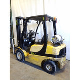 2007 YALE GLP050 5000 LB LP GAS FORKLIFT PNEUMATIC 90/200 3 STAGE MAST SIDE SHIFTER 6416 HOURS STOCK # 21357-NCB