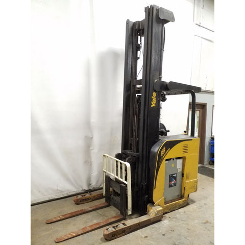 2008 YALE NDR035EA 3500 LB ELECTRIC FORKLIFT 138/320 3 STAGE MAST SIDE SHIFTER 4582 HOURS STOCK # 21157-NCB
