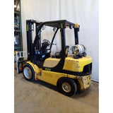 2007 YALE GLP060VX 6000 LB LP GAS FORKLIFT DUAL FRONT TIRE PNEUMATIC 93/200 3 STAGE MAST SIDE SHIFTER 5207 HOURS STOCK # 21369-NCB