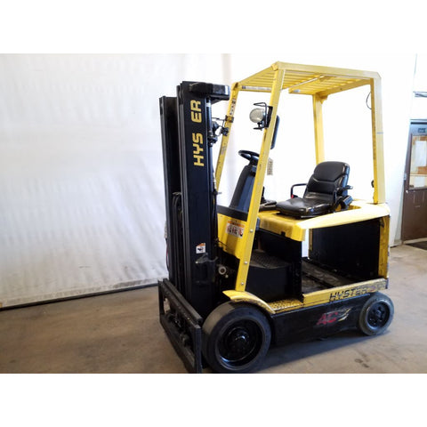 2007 HYSTER E50Z 5000 LB 36 VOLT ELECTRIC CUSHION 82/189 3 STAGE MAST SIDE SHIFTER STOCK # 20020-NCB
