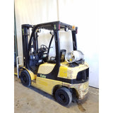 2008 YALE GLP050VX 5000 LB LP GAS FORKLIFT PNEUMATIC 90/200 3 STAGE MAST SIDE SHIFTER 5682 HOURS STOCK # 21426-NCB