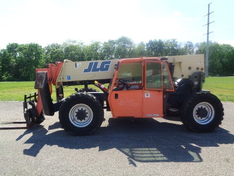 2008 JLG G10-55A 10000 LB DIESEL TELESCOPIC FORKLIFT TELEHANDLER PNEUMATIC 4WD ENCLOSED CAB STOCK # BF9536549-ASOH