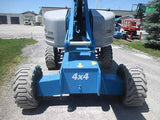 2011 GENIE S65 TELESCOPIC BOOM LIFT AERIAL LIFT WITH JIB ARM 65' REACH DIESEL 4WD 4458 HOURS STOCK # BF9492619-HLNY