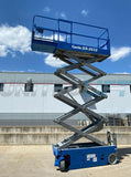 2013 GENIE GS2632 SCISSOR LIFT 26' REACH ELECTRIC SMOOTH CUSHION TIRES 170 HOURS STOCK # BF9326859-RIL