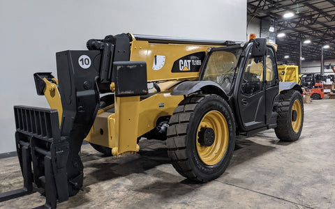 2015 CAT TL1055D 10000 LB DIESEL TELESCOPIC FORKLIFT TELEHANDLER PNEUMATIC 4WD ENCLOSED HEATED CAB OUTRIGGERS STOCK # BF9764119-ILIL - United Lift Used & New Forklift Telehandler Scissor Lift Boomlift