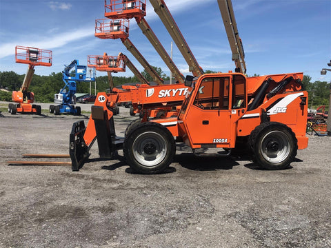 2010 SKYTRAK 10054 10000 LB DIESEL TELESCOPIC FORKLIFT TELEHANDLER 4WD ENCLOSED CAB 4824 HOURS STOCK # BF9690339-BATNY