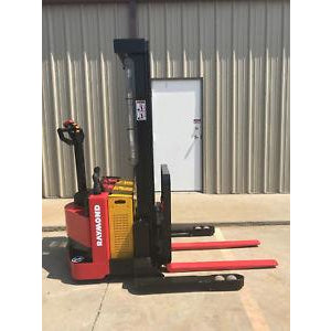 2006 RAYMOND RSS40 4000 LB ELECTRIC FORKLIFT WALKIE STACKER CUSHION SIDE SHIFTER STOCK # 5057-602571-ARB