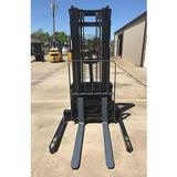 2005 CROWN WS 2000 3500 LB ELECTRIC FORKLIFT WALKIE STACKER CUSHION 84/128 2 STAGE MAST 9064 HOURS STOCK # 4929-558267-ARB - united-lift-equipment