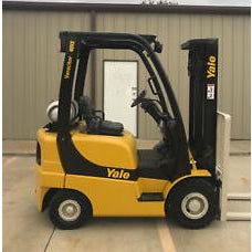 2010 YALE GLP040 4000 LB LP GAS FORKLIFT PNEUMATIC 84/130 2 STAGE MAST 6013 HOURS STOCK # 11802-035041-ARB