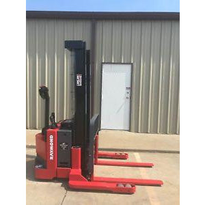2006 RAYMOND RSS40 4000 LB ELECTRIC FORKLIFT WALKIE STACKER CUSHION SIDE SHIFTER STOCK # 5057-602351-ARB
