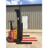 2008 RAYMOND RSS40 4000 LB ELECTRIC FORKLIFT WALKIE STACKER CUSHION SIDE SHIFTER 2535 HOURS STOCK # 6736-803344-ARB