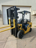 "2015 CATERPILLAR GP25N 5000 LB LP GAS FORKLIFT PNEUMATIC 84/188"" 3 STAGE MAST SIDE SHIFTER 4107 HOURS STOCK # BF9933809-RIL - United Lift Used & New Forklift Telehandler Scissor Lift Boomlift"