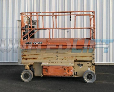 2005 JLG 3246ES SCISSOR LIFT 32' REACH ELECTRIC SMOOTH CUSHION TIRES 625 HOURS STOCK # BF9287019-DBUF