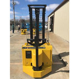 1999 YALE MSW030SCN12TV083 3000 LB ELECTRIC FORKLIFT WALKIE STACKER CUSHION 83/126 2 STAGE MAST 6989 HOURS STOCK # 3397-N02063-ARB - Buffalo Forklift LLC
