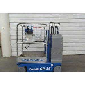 2007 GENIE GR-15 PERSONAL RUNABOUT LIFT 15' REACH ELECTRIC ONLY 274 HOURS STOCK # BF71101-DPA