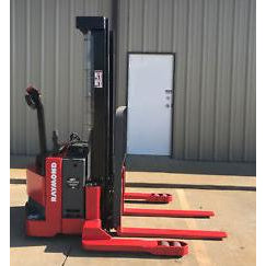 2003 RAYMOND RSS40 4000 LB ELECTRIC FORKLIFT WALKIE STACKER 86/128 2 STAGE MAST CUSHION SIDE SHIFTER 3913 HOURS STOCK # 5227-301429-ARB - united-lift-equipment
