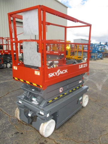 2012 SKYJACK SJIII3219 SCISSOR LIFT 19' REACH ELECTRIC CUSHION TIRES LOW HOURS STOCK # BF946549-WIB - United Lift Used & New Forklift Telehandler Scissor Lift Boomlift