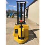 2004 YALE MSW040SEN24TV087 4000 LB ELECTRIC FORKLIFT WALKIE STACKER CUSHION 87/130 2 STAGE MAST 3226 HOURS STOCK # 5003-02284B-ARB - united-lift-equipment
