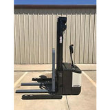 2005 CROWN WS 2000 3500 LB ELECTRIC FORKLIFT WALKIE STACKER CUSHION 84/128 2 STAGE MAST 9064 HOURS STOCK # 4929-558267-ARB