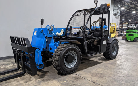 2017 GENIE GTH5519 5500 LB DIESEL TELESCOPIC FORKLIFT TELEHANDLER PNEUMATIC 4WD AUXILIARY HYDRAULICS STOCK # BF9504299-ILIL - United Lift Used & New Forklift Telehandler Scissor Lift Boomlift