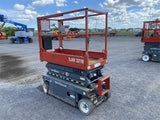 2014 SKYJACK SJ3219 SCISSOR LIFT 19' REACH ELECTRIC SMOOTH CUSHION TIRES 129 HOURS STOCK # BF962129-BATNY - United Lift Used & New Forklift Telehandler Scissor Lift Boomlift