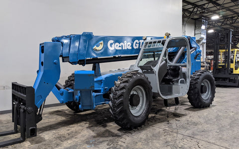 2011 GENIE GTH1056 10000 LB DIESEL TELESCOPIC FORKLIFT TELEHANDLER PNEUMATIC 4WD OUTRIGGERS STOCK # BF9521199-ILIL - United Lift Equipment LLC