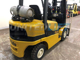 2014 YALE GLP050VX 5000 LB LP GAS FORKLIFT PNEUMATIC 84/189 3 STAGE MAST SIDE SHIFTER 6263 HOURS STOCK # BF9111899-BEMIN