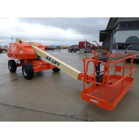 2008 JLG 400S TELESCOPIC BOOM LIFT AERIAL LIFT 40' REACH DUAL FUEL 4WD 3443 HOURS STOCK # BF972309-FILB