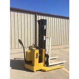 2000 YALE MSW030SCN12TV083 3000 LB ELECTRIC FORKLIFT WALKIE STACKER CUSHION 83/126 2 STAGE MAST 7231 HOURS STOCK # 3357-558274-ARB - united-lift-equipment