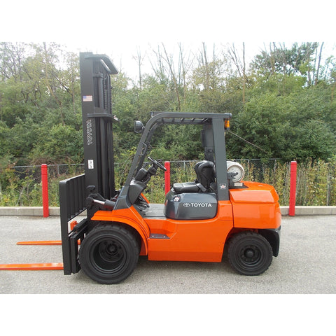 2006 TOYOTA 7FGU35 8000 LB LP GAS FORKLIFT PNEUMATIC 2 STAGE MAST SIDE SHIFTER STOCK # BF9245129-329-RIL - Buffalo Forklift LLC