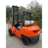 2006 TOYOTA 7FGU35 8000 LB LP GAS FORKLIFT PNEUMATIC 118/176 2 STAGE MAST SIDE SHIFTER DUAL TIRES 3978 HOURS STOCK # BF9245129-329-RIL $26,500