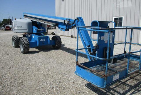 2011 GENIE S65 TELESCOPIC BOOM LIFT AERIAL LIFT WITH JIB ARM 65' REACH DIESEL 4WD 5714 HOURS STOCK # BF9471209-CEIL
