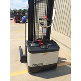 2006 CROWN WS-2300 3500 LB ELECTRIC FORKLIFT WALKIE STACKER CUSHION 84/128 2 STAGE MAST 8796 HOURS STOCK # 5652-558262-ARB