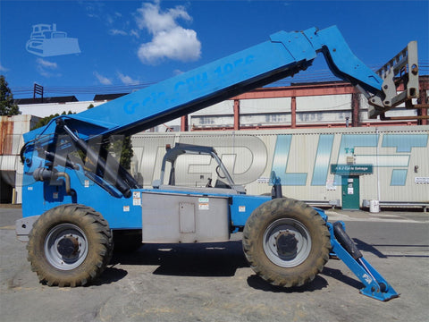 2007 GENIE GTH1056 10000 LB DIESEL TELESCOPIC FORKLIFT TELEHANDLER PNEUMATIC 4WD 2840 HOURS STOCK # BF9119149-ESPA