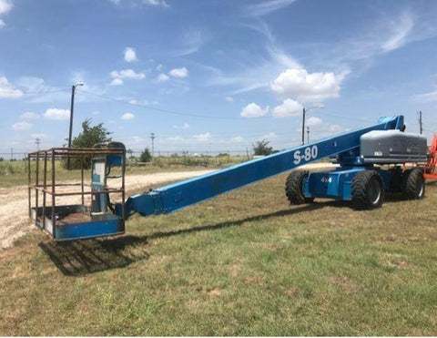 2006 GENIE S80 TELESCOPIC BOOM LIFT AERIAL LIFT 80' REACH DIESEL 4WD 1709 HOURS STOCK # BF9238539-WIBTX - United Lift Used & New Forklift Telehandler Scissor Lift Boomlift