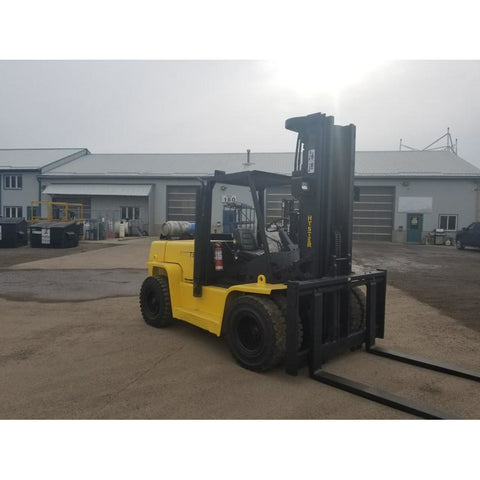 2000 HYSTER H155XL2 15500 LB LP GAS FORKLIFT PNEUMATIC 110/220 3 STAGE MAST SIDE SHIFTER 6204 HOURS STOCK # BF92459-399-PRLT - united-lift-equipment
