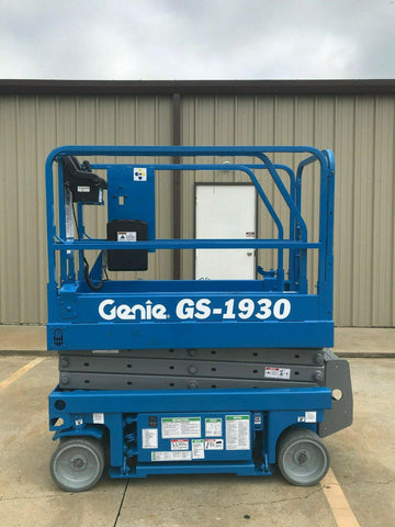 2003 GENIE GS1930 SCISSOR LIFT 19' REACH ELECTRIC 1154 HOURS STOCK # 6247-594642-ARB