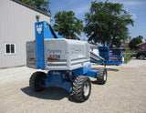 2014 GENIE S40 TELESCOPIC STRAIGHT BOOM LIFT AERIAL LIFT 40' REACH DIESEL 4WD 1370 HOURS STOCK # BF9441179-CEIL